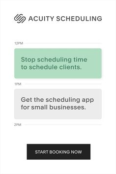 Get the scheduling app for small businesses that lets clients view your real-time availability and book their own appointments. Start booking now.