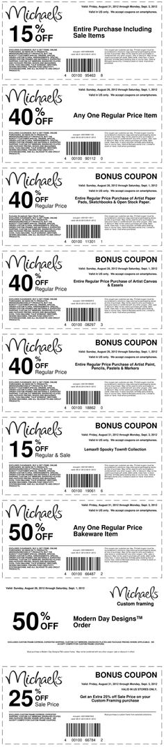15% off everything and more at Michaels coupon via The Coupons App