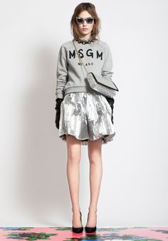 silver + grey terry--MSGM pre-fall 2012