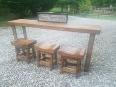 www.uniqueprimtiques.com Sofa Tables, Backyards, Backyard Patio, Your Favorite, Dining Bench, Etsy, Unique, Furniture, Home Decor