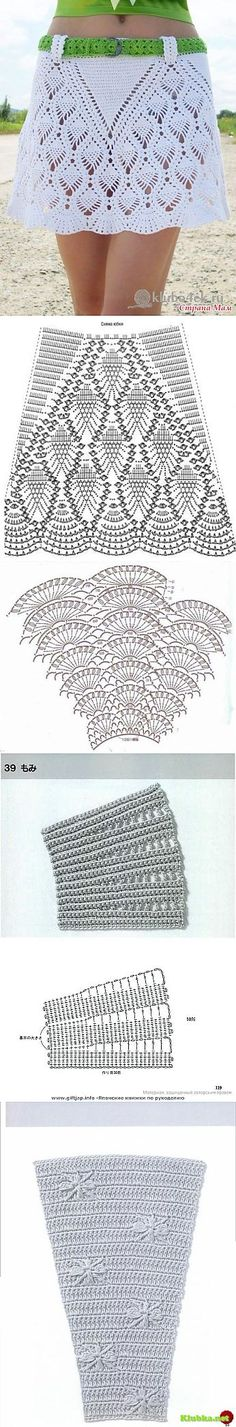 Crochet Patterns Skirt This Pin was discovered by Оль Crochet Skirts, Crochet Quilt, Crochet Blouse, Crochet Motif, Crochet Clothes, Crochet Baby, Knit Crochet, Crochet Patterns, Crochet Woman