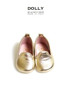 DOLLY by Le Petit Tom ® BABY Smoking Slippers 1SL platino | Le Petit Tom ®