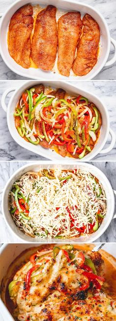 Fajita Chicken Casserole - - Packed with flavor and so quick to throw together! This chicken fajita casserole is delicious as it is nutritious. - by low carb recipes Fajita Chicken Casserole Low Carb Recipes, Cooking Recipes, Healthy Recipes, Pork Recipes, Healthy Casserole Recipes, Rice Recipes, Health Food Recipes, Health Chicken Recipes, Carb Free Meals