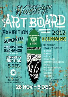 Wavescape Surf Festival 2012 by Studio Muti , via Behance