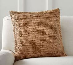 Lattice Paper Knit Pillow Cover looks like seagrass for gorgeous summer texture.