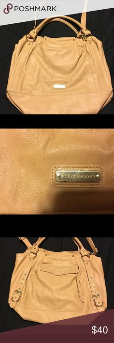Steve Madden pocket book Brand new never carried pocket book. Has handles and a longer strap that can be attached or detached to carry as cross body. Name plate still has plastic on it. Steve Madden Bags Totes