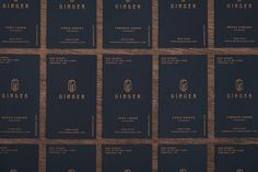 Branding created for Bar Ginger - located at Central district Hong Kong offers great selections of whiskey.The identity is inspired by Art deco style and integrates with contemporary style, describes a scene about climbing over a wall with a ladder, get…