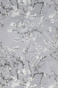 VanGogh Blossom (Grey tones) | Wallpaper From the 70s