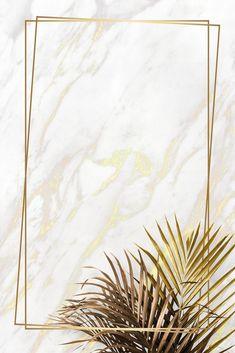 premium illustration of Rectangle golden frame on a marble Rectangle golden frame on a marble background vector Tropical Background, Flower Background Wallpaper, Cute Wallpaper Backgrounds, Backgrounds Free, Flower Backgrounds, Aesthetic Iphone Wallpaper, Background Patterns, Aesthetic Wallpapers, Golden Background