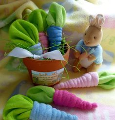 Pink or Blue Washcloth Carrot..Peter Rabbit Baby by mollbelldesigns on Etsy. To order Norwex Baby Cloths, visit: www.CFlynn.norwex.biz