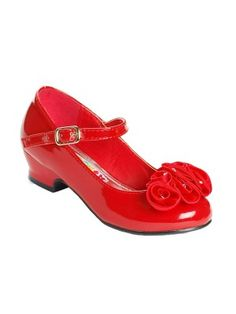 Perfect little red flower girl shoes. | Shoes, shoes ...