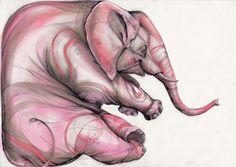 Pink Elephant - www.marjoleincaljouw.nl