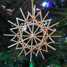 Every year, we make ornaments for teachers, friends, and family. Last year, my children made traditional German Star Ornaments, called Strohsterne. I first spotted these stars at a neighbor's during trick or treating and I found out that you can order a straw star kit with straw, a 6-strand...