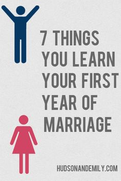 People love to give first year of marriage advice, but this post shares seven things to be aware of your first year of marriage.