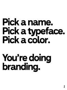 Doing branding