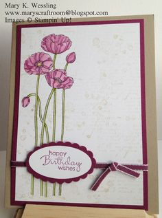 Mary's Craft Room: Pleasant Poppies