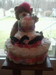 diaper cake i made for my grand angel