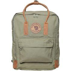 FJALL RAVEN 16 L Kanken Canvas & Leather Backpack ($176) ❤ liked on Polyvore featuring bags, backpacks, backpack, leather knapsack, shoulder strap backpack, fjallraven rucksack, padded backpack and leather zip backpack