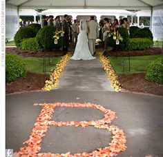 Love this wedding decor ... the first letter of your NEW last name : )