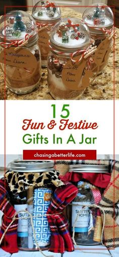These fun and festive DIY Christmas gifts in a jar are easy to make! They make the BEST homemade gifts for secret santas mailman coworkers friends family and teachers! Diy Christmas Gifts For Coworkers, Mason Jar Christmas Gifts, Inexpensive Christmas Gifts, Diy Gifts For Friends, Homemade Christmas Gifts, Christmas Gift Tags, Diy Christmas Ornaments, Homemade Gifts, Christmas Ideas