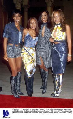The time they wore knee-high boots and denim tops and Beyonce wore an aligator skirt | The 25 Most Embarrassing Destiny's Child Coordinated Looks