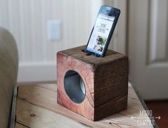 RAD block acoustic iphone dock by MCSWCo on Etsy, $55.00