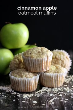 Cinnamon Apple Oatmeal Muffins | Melanie Makes