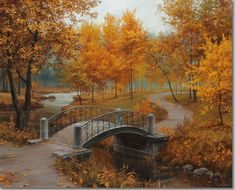 Autumn In The Old Park by Evgeny Lushpin