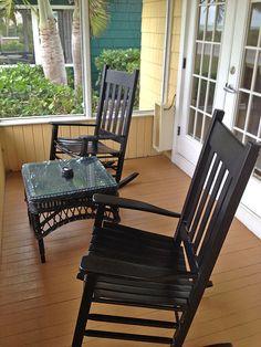 Tween Waters Inn - Captiva Florida. Such a great Florida getaway! Cute little cottage porch facing the beach