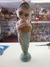 ANTIQUE 1915 CARNIVAL CHALKWARE FLAPPER GIRL FIGURE NO RESERVE