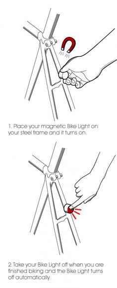 Great bike-lights  http://copenhagenparts.com/products/magnetic-bike-light-2