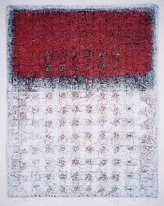 BACKBONE OF THE WIND - D-15.Feb.1998 mixedmedia painting on paper HAYASHI...
