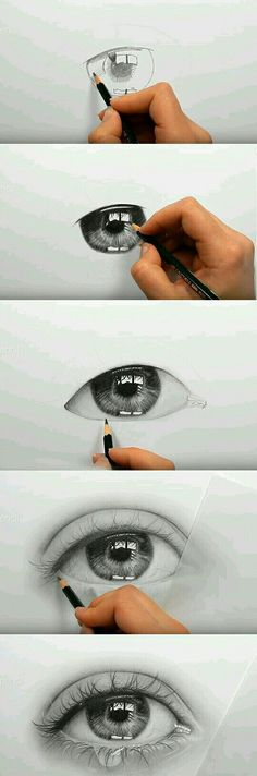 20 ideas drawing eyes crying pencil art augen-make-up Pencil Art Drawings, Art Drawings Sketches, Realistic Drawings, Cute Drawings, Realistic Eye, Eye Drawing Tutorials, Drawing Tips, Art Tutorials, Drawing Ideas