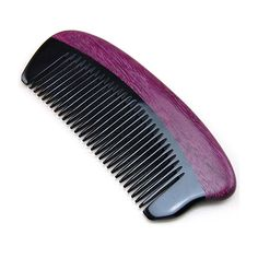 "Handmade Anti Static Natural Buffalo Horn & Purpleheart Wood Comb, Pocket Horn Comb 5"" by JoyoComb on Etsy https://www.etsy.com/ca/listing/238564763/handmade-anti-static-natural-buffalo"