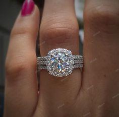 14K White Gold FN 1.50 Carat Round Cut Diamond Engagement Wedding Bridal Ring #affoin8