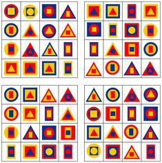 Lernstübchen: Formenbingo (4) mit 3 Formen