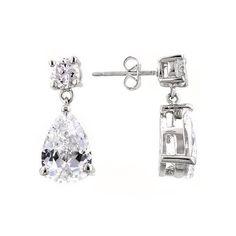 Elegant Cz Drop Earrings  http://www.bonanza.com/listings/Elegant-Cz-Drop-Earrings/192273609