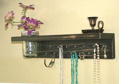 Jewelry Organizer Wall Hanging Necklace Holder by GardenCricket, $43.00