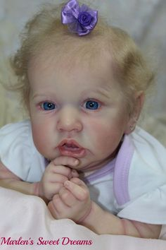 Amazing reborn baby Saskia by Bonnie Brown IIORA