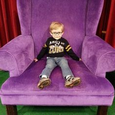 Jaydon waited until after Christmas to be bad as he sits in Santa's chair at the mall.