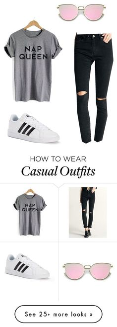 """Casual outfit"" by heidycarina on Polyvore featuring adidas"