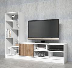 Comoda TV din pal, Notex Homs abl/nuc, 160 x x 30 cm Furniture, Living Room Tv Unit, Tv Wall Design, Living Room Decor, House Interior, Wall Tv Unit Design, Living Room Tv Wall, Tv Rack Design, Wall Unit