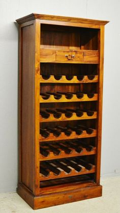 Ancient Mariner Wine Bottle Cabinet Rack Solid  Hardwood Teak Delivery Available