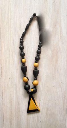 collana in legno misto ebano, West Africa