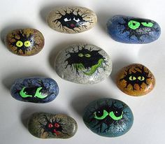 Look what you can do with metallic and glow-in-the-dark acrylic paints.