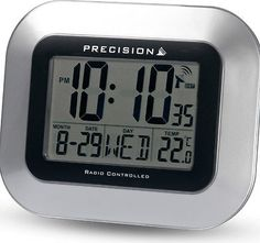 #Precision #radio controlled prec0102 silver #clock date temp wall / desk mountab,  View more on the LINK: http://www.zeppy.io/product/gb/2/121954185433/