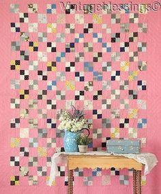 Carpenters Square Antique Double Pink & White Cutter Quilt x 78 Pink Quilts, Old Quilts, Antique Quilts, Scrappy Quilts, Easy Quilts, Vintage Quilts, 16 Patch Quilt, Quilt Blocks, Charm Quilt