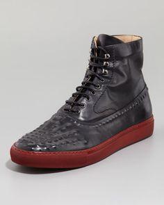 Riveted High-Top Sneaker by Alexander McQueen
