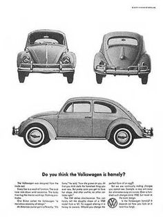 Advertisement of VW Beetle