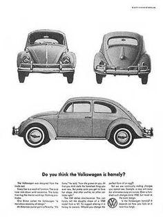 Advertisement of VW Beetle